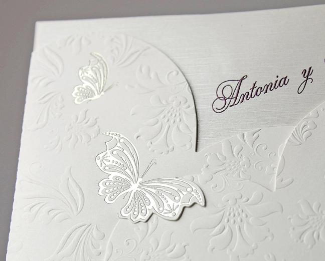 Invitatie De Nunta Cu Fluturi Embosati 34917 Cataloginvitatii