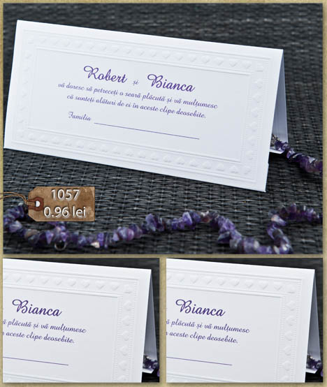 Plic Bani Nunta Place Card 1057