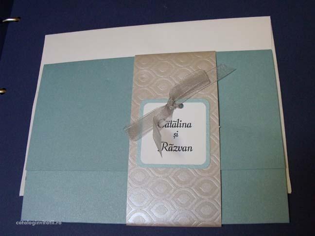 invitatie aquamarine