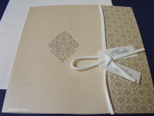 invitatie motiv floral rococo