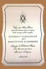 Kim Kardashian si Kris Humphries desingul ales pentru invitatii de nunta
