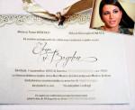 Invitația de nunta a Elenei Basescu