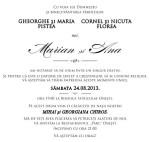 Aranjarea invitatiei de nunta | fonturi pentru ziua cea mare