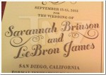 Invitatii de nunta – LeBron James si Savannah Brinson