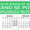 calendar nunti 2020