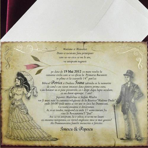 5392 Invitatie De Nunta Caragiale Cataloginvitatii