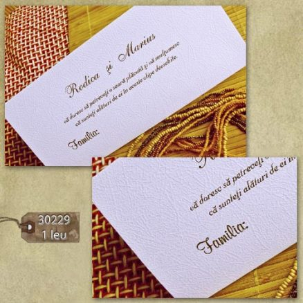 plic bani nunta & place card 30229
