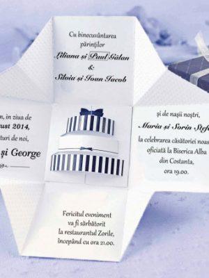 invitatii nunta cutie tort 39107