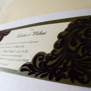 invitatie nunta cu catifea