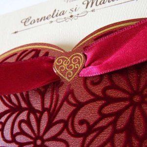 invitatie nunta catifea