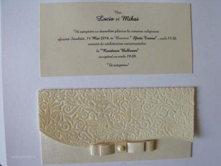 invitatie nunta cu perla