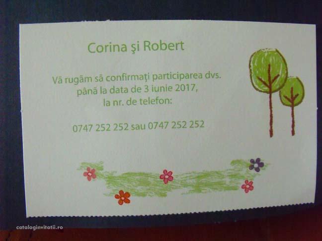 Invitatie Nunta Si Botez 2 In 1 Cod 35601 Cataloginvitatii