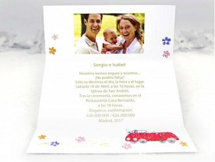 invitatie nunta si botez 2 in 1
