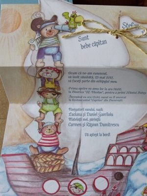 invitatii botez capitan pirat