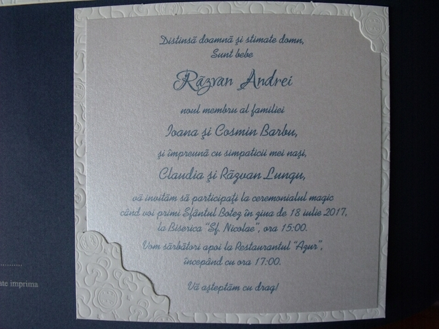 Invitatie Botez Este Baietel 15302 Cataloginvitatii