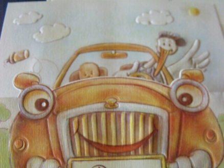 detaliu masina barza copil