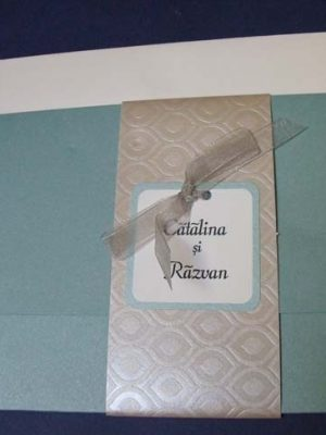 invitatie aquamarine