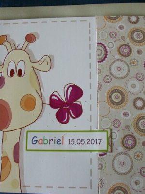 invitatie girafa cu trifoi