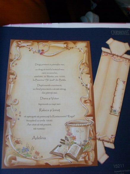 invitatie religioasa cristelnita si biblie