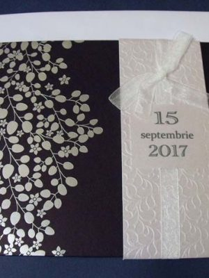 invitatie nunta ramuri inflorite