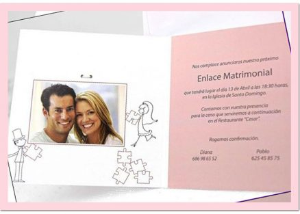 invitatie puzzle interior