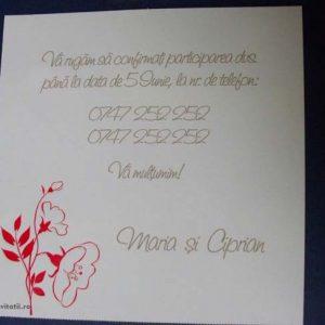card confirmare floricica 42700