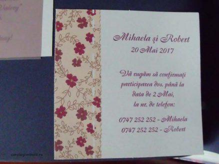 card confirmare floricele