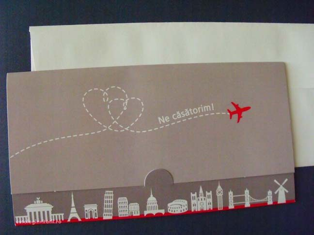 invitatii bilet avion mapamond