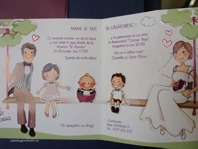 Nunta Mami Si Tati Invitatie 39124 Cataloginvitatii