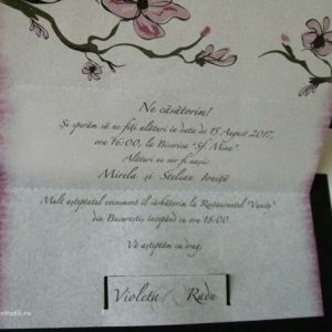 text invitatie magnolie