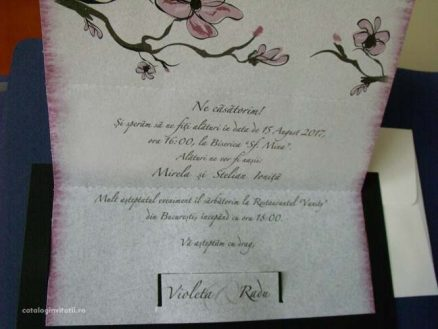 text invitatie magnolie