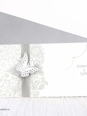 invitatie fluture 3d