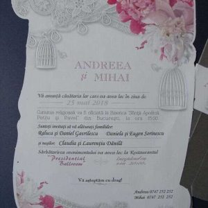 detaliu invitatie papirus