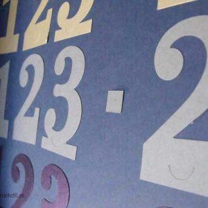 numere masa argintii