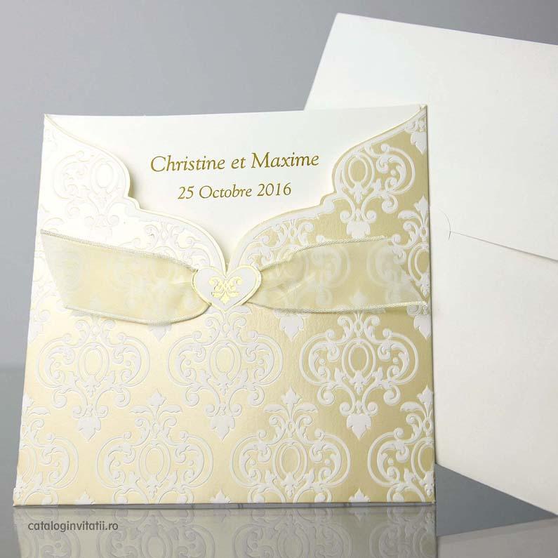 Invitatie cu design grafic royal baroc 32800