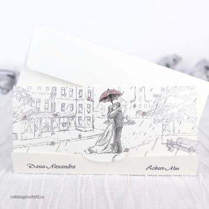 invitaie amandoi sub o umbrela inkdrawing 39239
