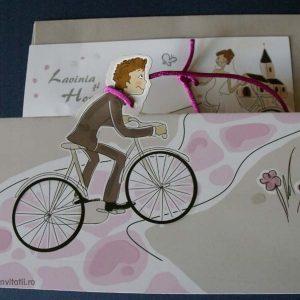 mire pe bicicleta