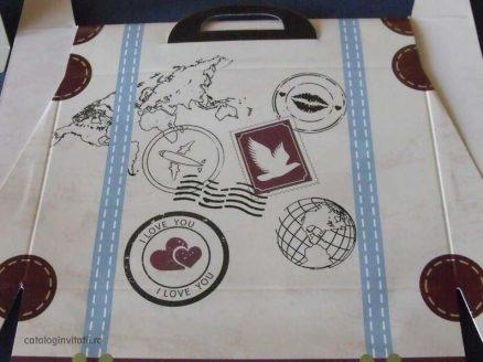 stampile pe valiza