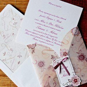 invitatie model floral calc 31308
