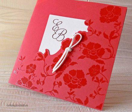 invitatie model floral dicromatic