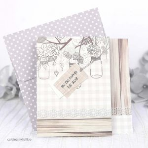 invitatie model rustic