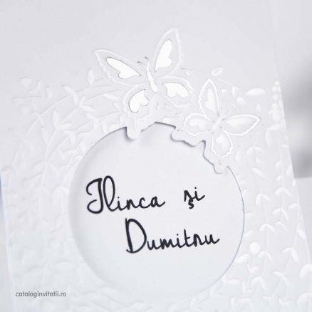invitatii nunta dicromatica alb argintiu 39243