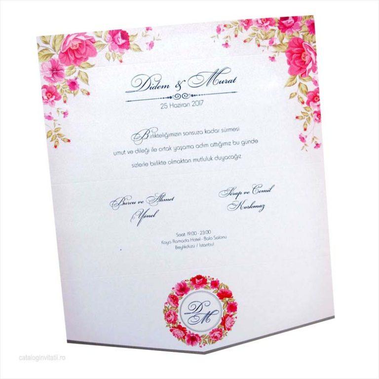 invitatie trandafiri