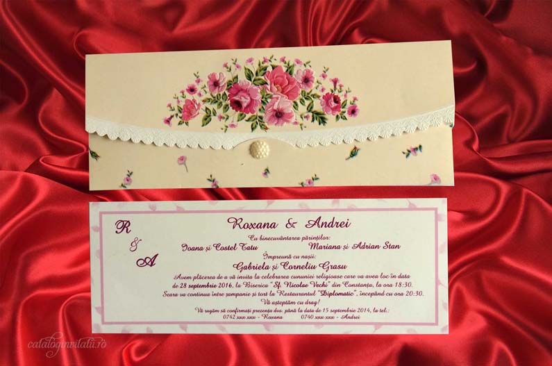 invitatie trandafiri Lady's Blush