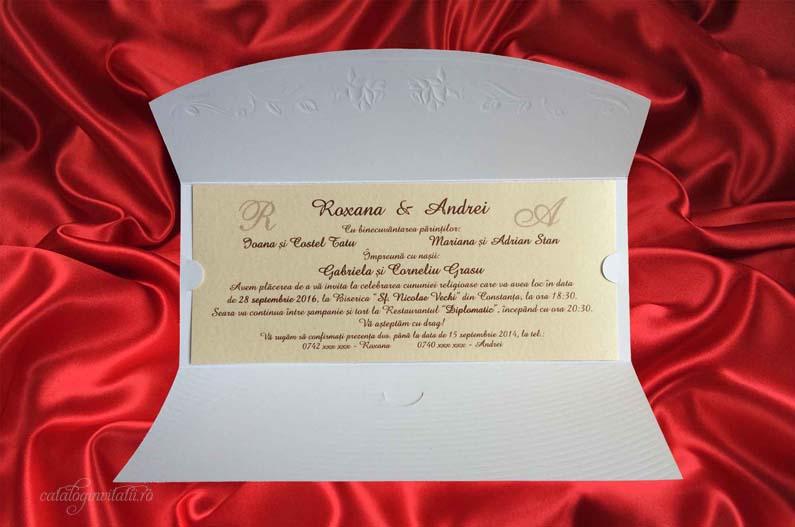 Invitatie Trandafiri Argintii 2250b Cataloginvitatii