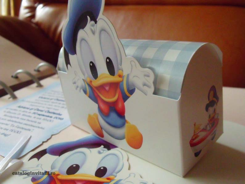 Invitatie botez cufar Donald Duck