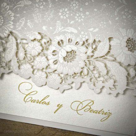 Detaliu laser cut floral