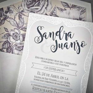 Detaliu invitatie si plic