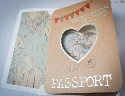 Detaliu coperta pasaport