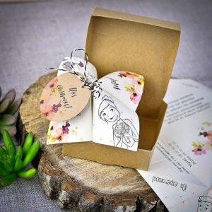 Invitatie origami in cutie